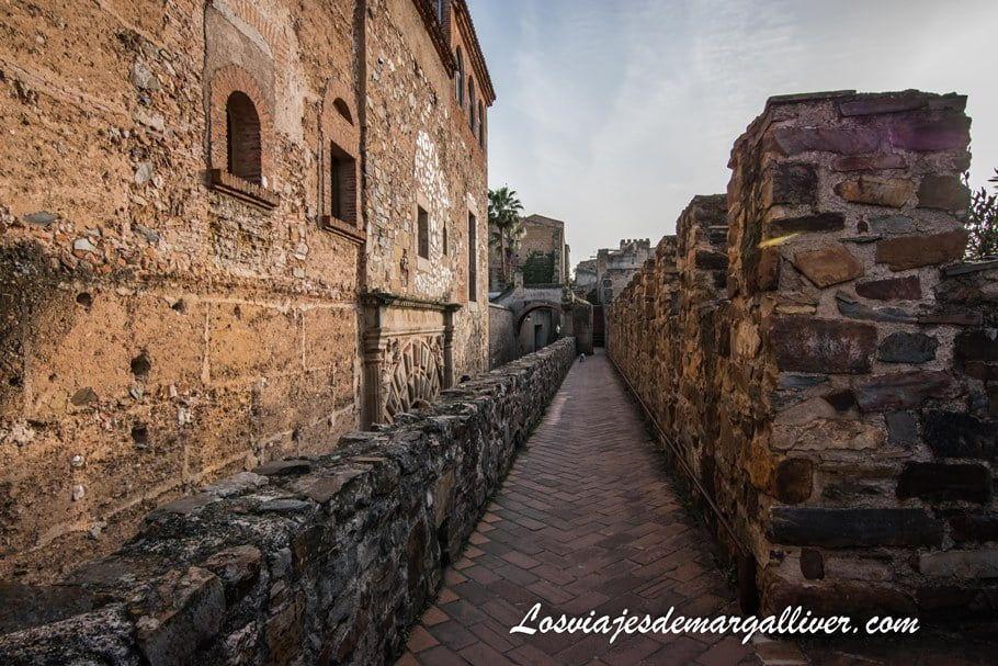 Subida a la torre de Bujaco y tramo de muralla de Cáceres