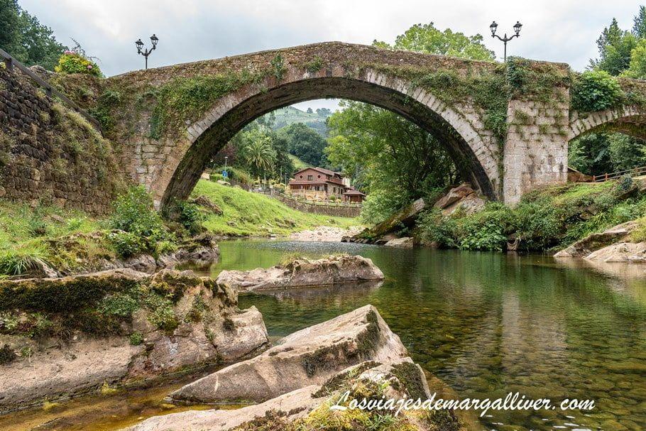 puente medieval de Lierganes, pueblo más bonito de Cantabria - Los viajes de Margalliver