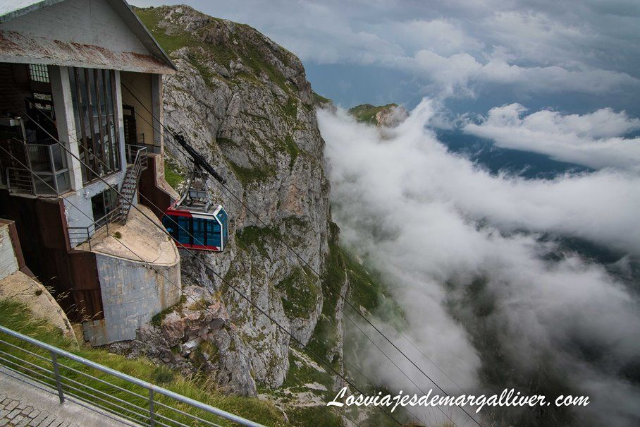 """Funicular """"El Cable"""" de Fuente dé en la cima - Los viajes de Margalliver"""