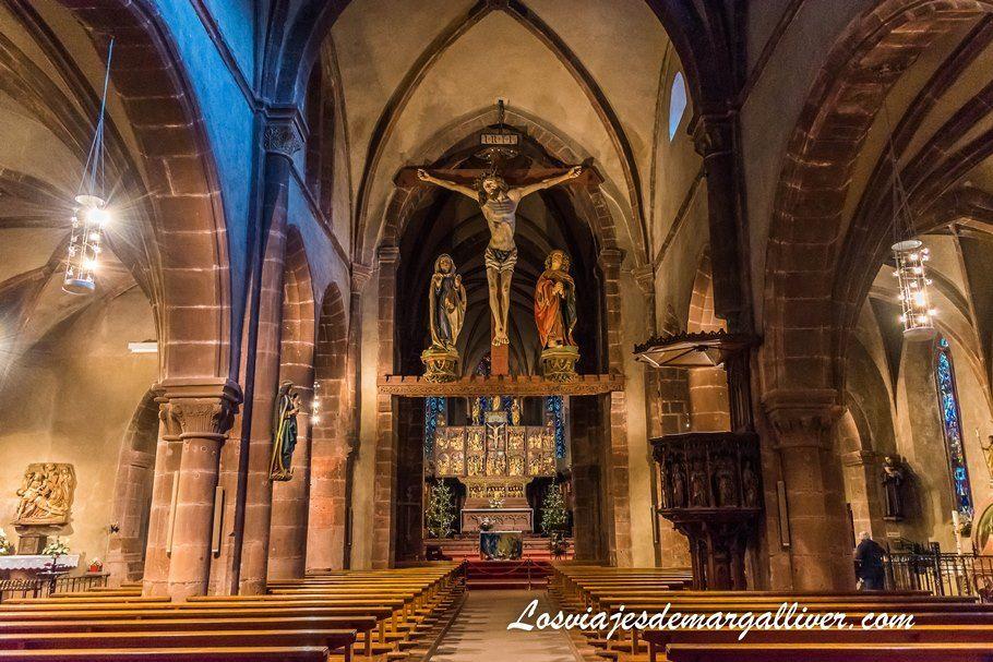 Jesuscristo gigante de la Iglesia de la Santa Cruz en Kaysersberg - Los viajes de Margalliver