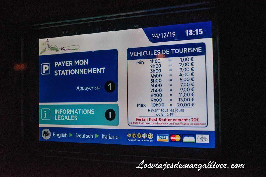 tarifas de los pankings de Kaysersberg en Alsacia - Los viajes de Margalliver