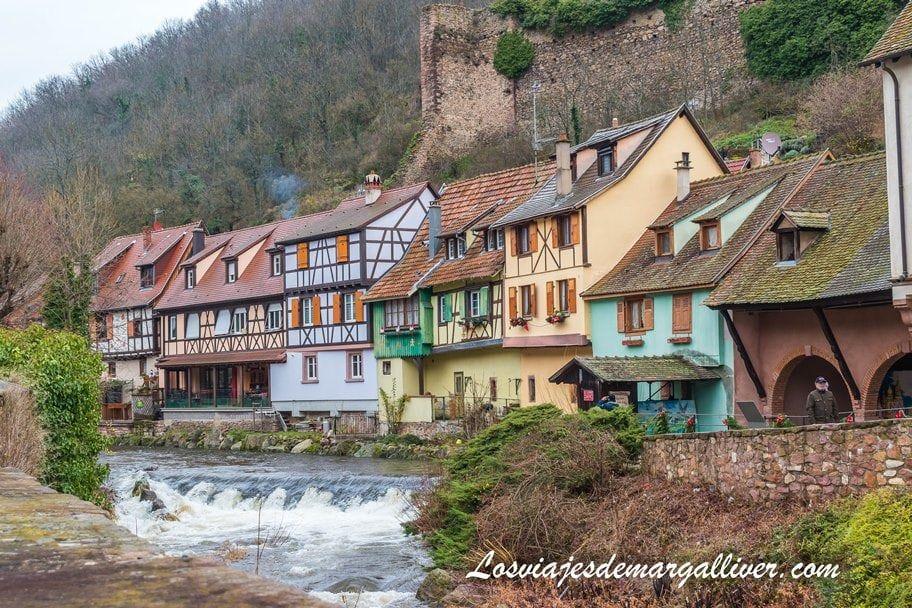 Coloridas casas alsacianas en Kaysersberg - Los viajes de Margalliver
