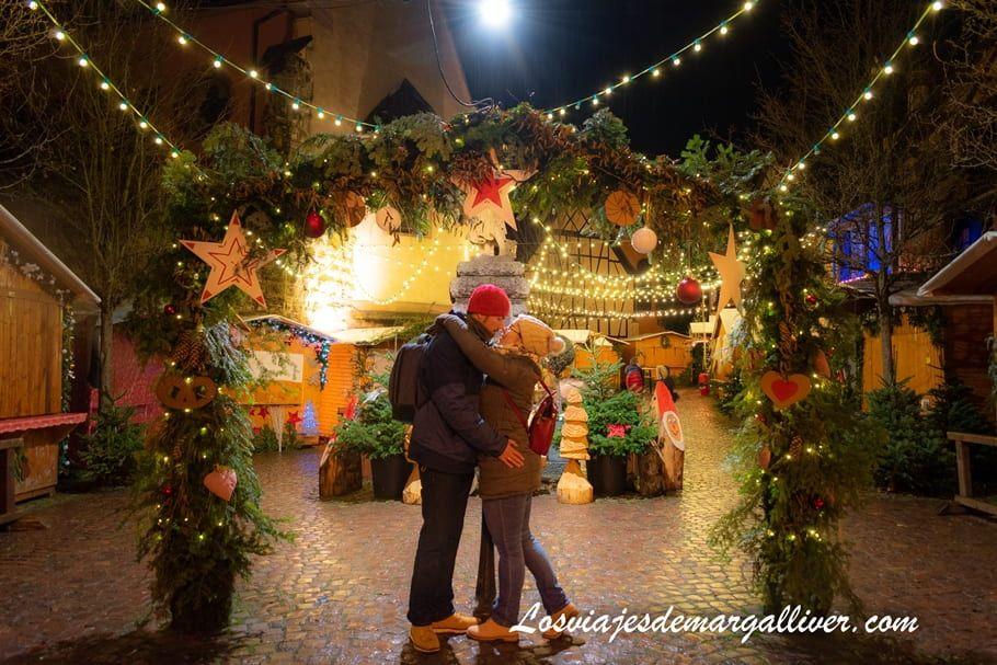 Rincón muy romántico del mercadillo de Navidad de Eguisheim - Los viajes de Margalliver