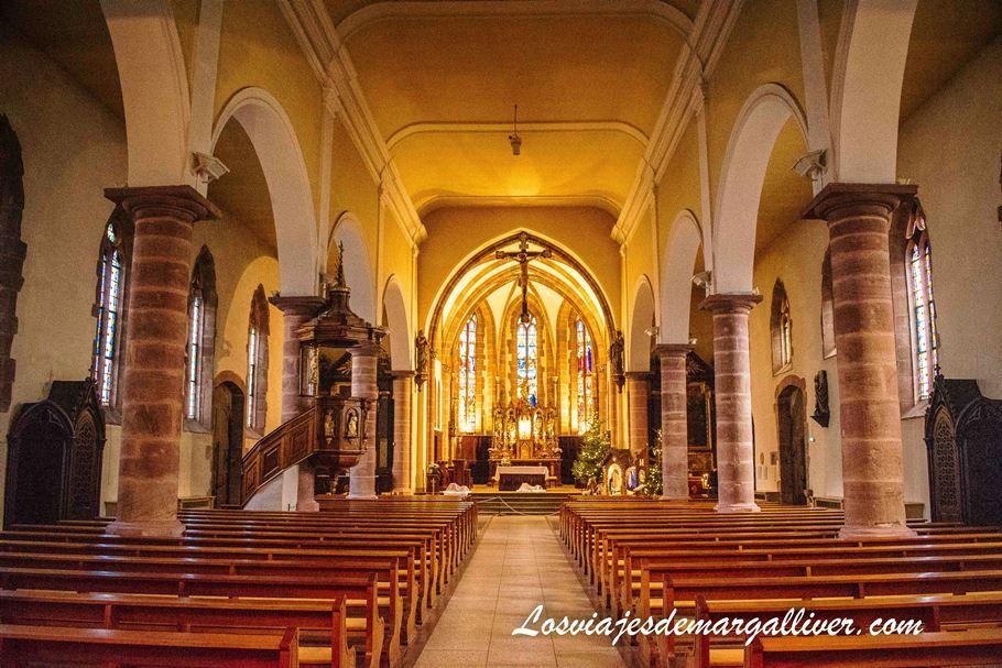Interior de la iglesia de Notre-Dame de la Assomption en Bergheim - Los viajes de Margalliver