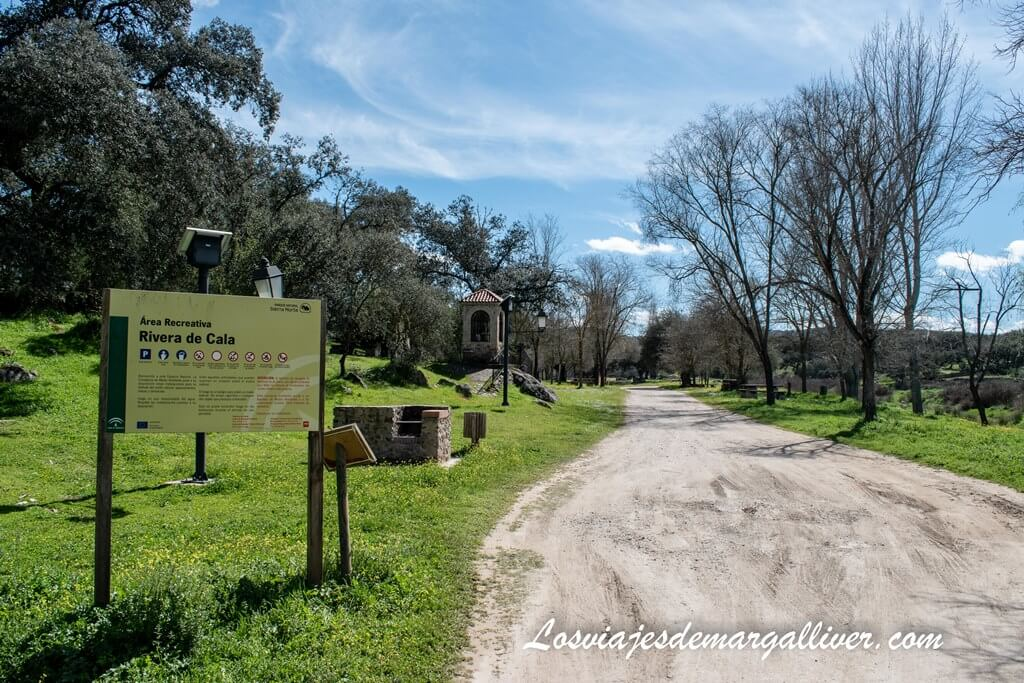 Área recreativa Rivera del Cala en El Real de la Jara, Sevilla - Los viajes de Margalliver