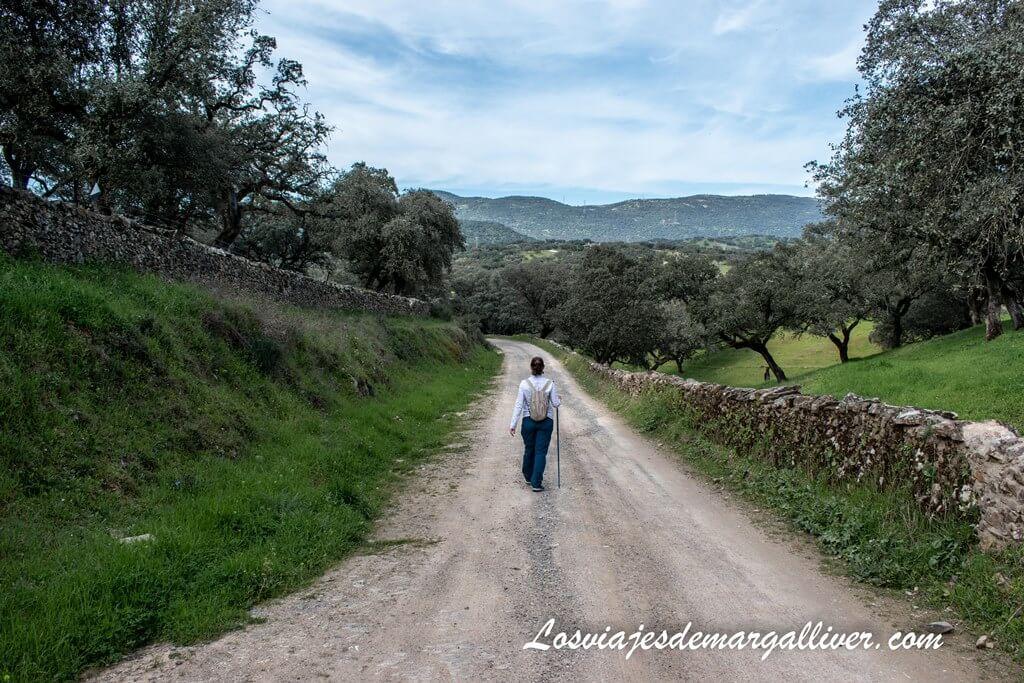 Margalliver caminando por la Vïa de la plata y Camino de Santiago en El Real de la Jara - Los viajes de Margalliver