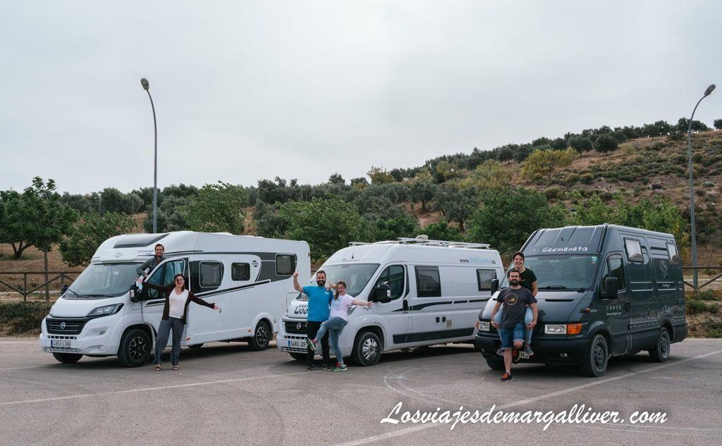 Area de autocaravanas de Los Corrales en la ruta por la sierra sur de Sevilla en autocaravana - Los viajes de Margalliver