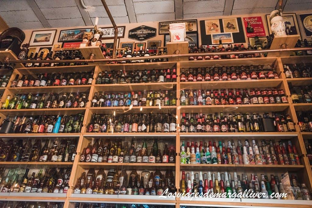 quinta mayor colección de cervezas de España se sitúa en La Catedral de la Cerveza de Pedrera - Los viajes de margalliver