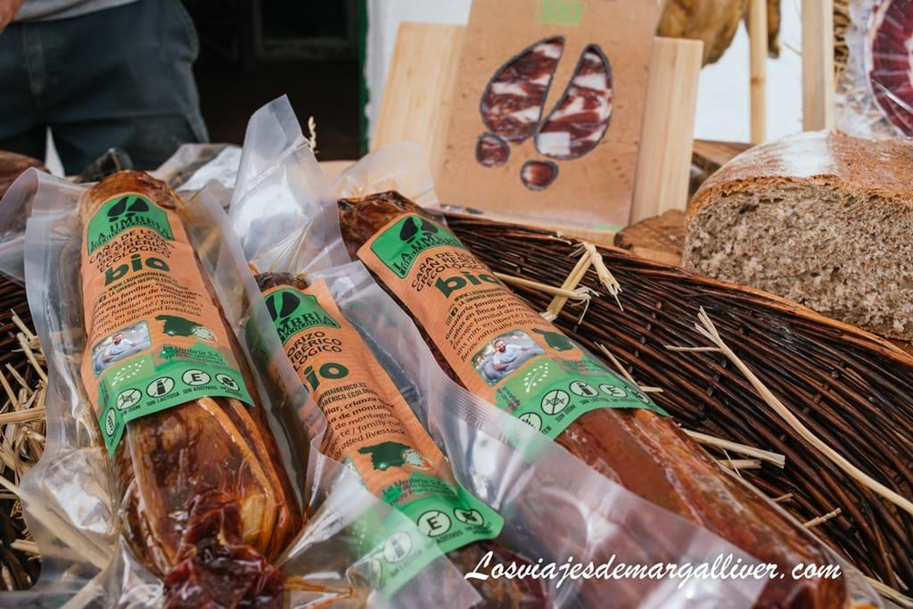 """productos ibéricos y 100% ecológicos de """"La Umbría"""" en Pruna, Sierra Sur de Sevilla - Los viajes de Margalliver"""