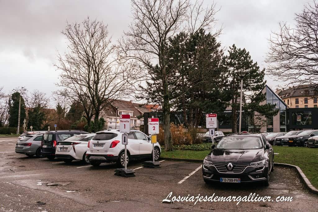 Parking Ville De Ribeauvillé, donde dejamos nuestro coche - Los viaje de Margalliver