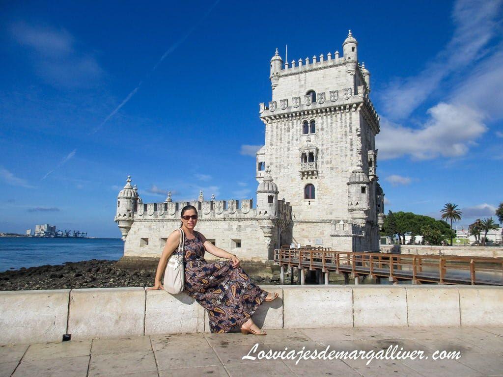 Margalliver en Torre de Belém en Lisboa - Los viajes de Margalliver