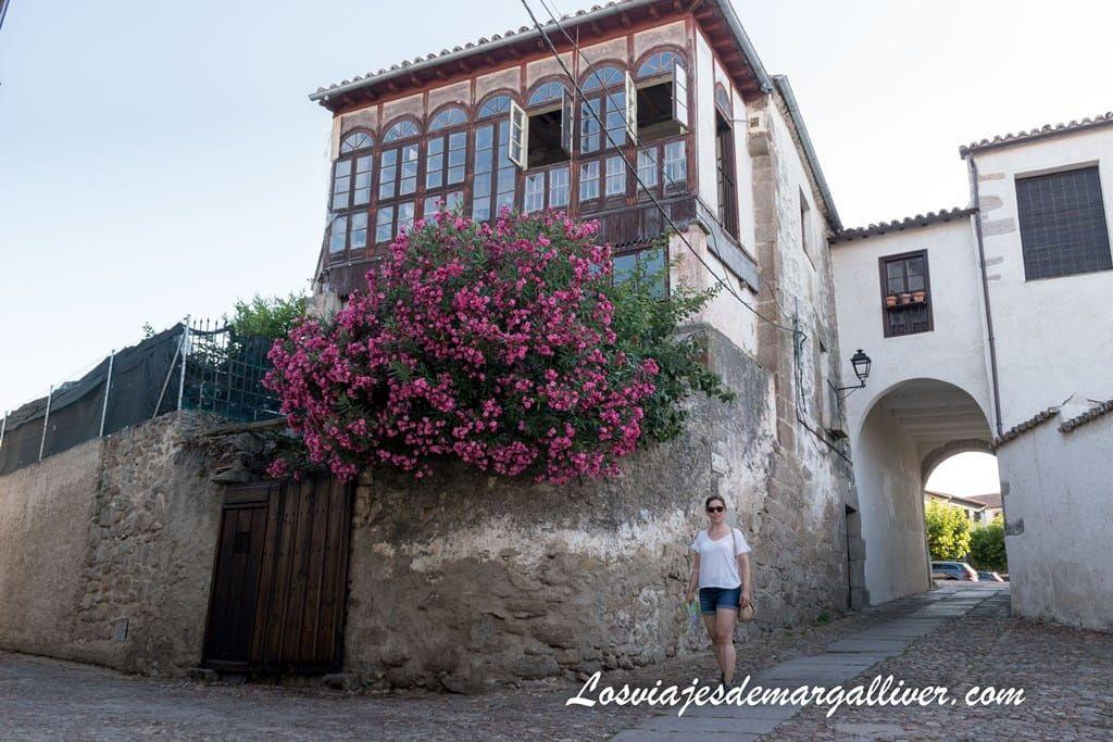 Margalliver en el Arco de los Roderos en Ledesma - los viajes de Margalliver