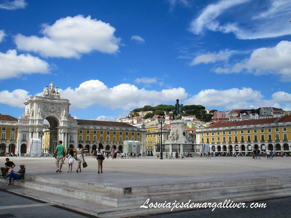 Plaza del Comercio en Lisboa - Los viajes de Margalliver