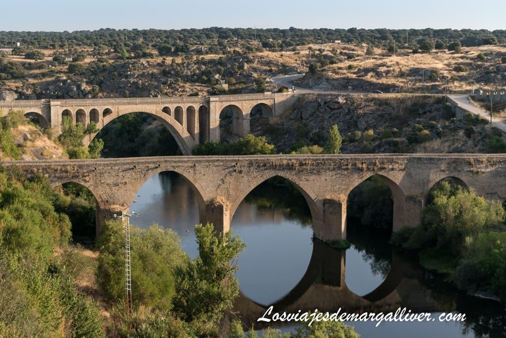 puente viejo y puente nuevo de Ledesma vistos desde el mirador del río Tormes - Los viajes de Margalliver