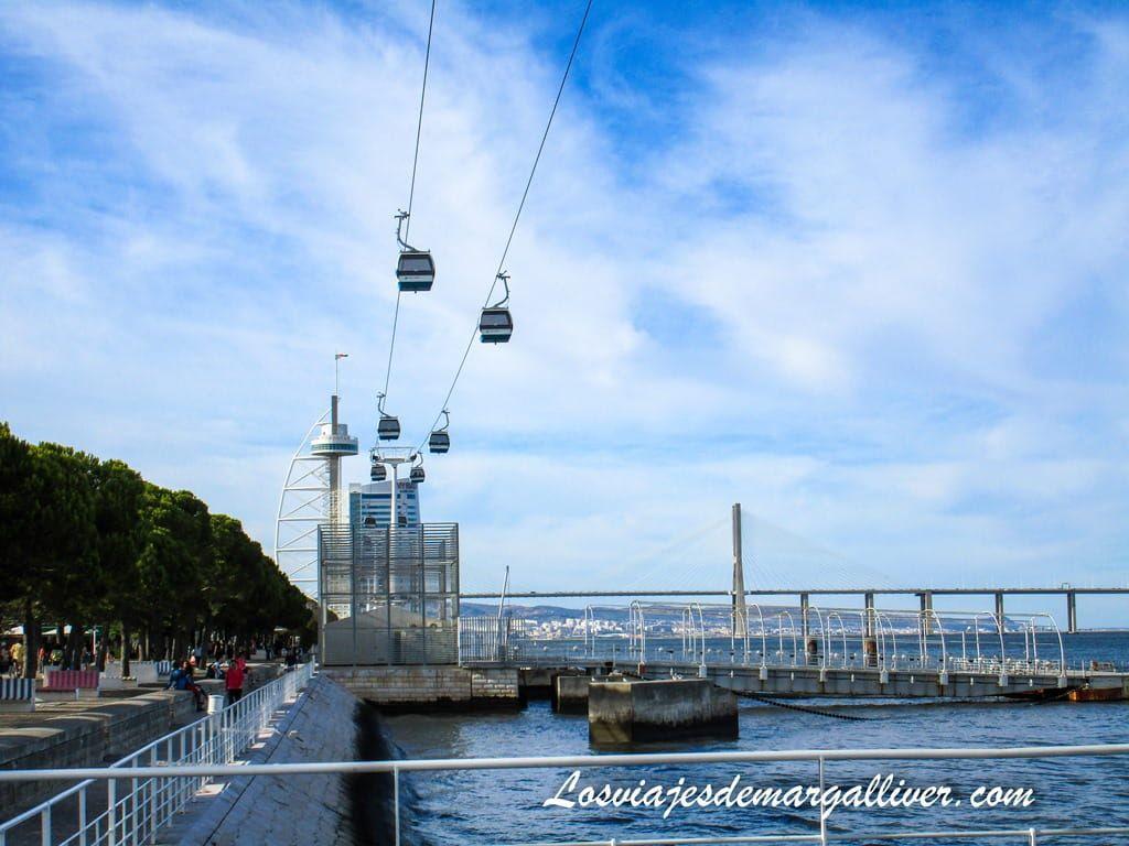 Teleferico expo 98 de Lisboa - Los viajes de Margalliver
