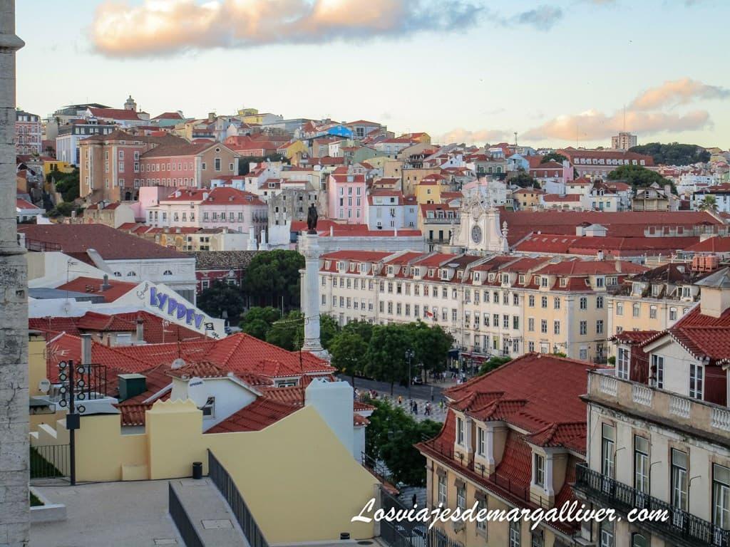 Vistas a Lisboa desde mirador de Santa Justa - Los viajes de Margalliver