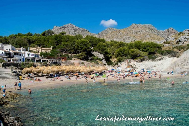Ruta en coche por Mallorca, panoramica de la cala Barques - Los viajes de Margalliver